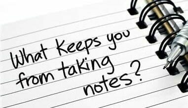 Effectively Taking Notes For Your Improvement Part 1